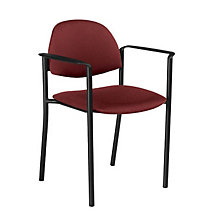 Fabric Stack Chair with Arms, GLO-2171