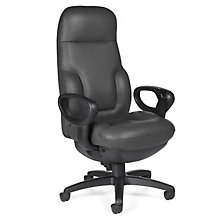 Big and Tall 24 Hour Leather Ergonomic Executive Chair, GLO-2424-18