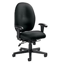 24 Hour High Back Fabric Ergonomic Computer Chair, GLO-2440TD