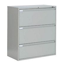 "3 Drawer Lateral File 36""W, GLO-9336P-3F1H"