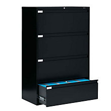 "4 Drawer Lateral File 42""W, GLO-9342P-4F1H"