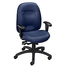 Tamiri Leather Mid Back Ergonomic Chair, 8813746