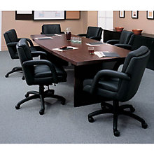 "Boat Shape Conference Table - 120"" x 48"", GLO-GCT10WBX2BU"