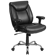 Big &Tall Black Leather Chair, 8812112