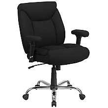 Big & Tall Black Fabric Chair, 8812111
