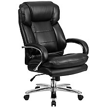 Black Leather Big & Tall Chair, 8812114
