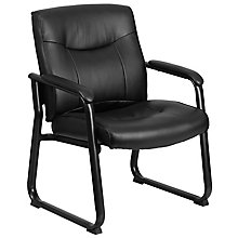 Black Leather Side Chair, 8812118