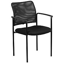 Black Mesh Side Chair with Arm, 8812125