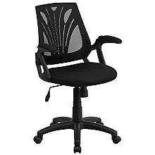 Black Fabric Metal Chair, 8812162