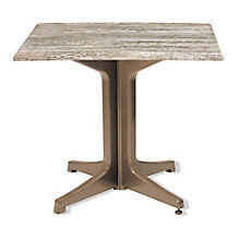 "Square Table with Resin Base - 32""W, 8822717"