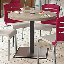 "Round Table with Square Steel Base - 30""DIA, 8822793"
