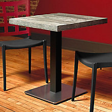 "Square Table with Square Stainless Steel Base - 36""W , 8822798"