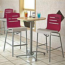 One Bar Height Table and Two Stools, 8822909
