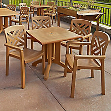 "36""W Square Table and Four Chairs, 8822917"
