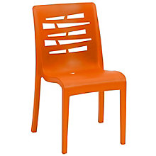 Outdoor Armless Stacking Chair with Wedge Back, 8822810