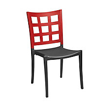 Two Tone Stacking Chair with Window Pane Back, 8822828