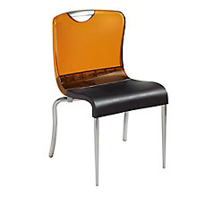 Transparent Back Armless Stacking Chair, 8822884