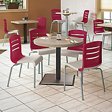"Round Table with Square Base Breakroom Set - 30""DIA, 8822892"