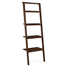 "Currant Four Shelf Solid Bamboo Leaning Bookcase - 70""H, 8806950"