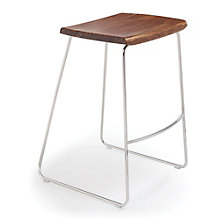 City Lights Solid Bamboo Backless Counter Height Stool, 8806957
