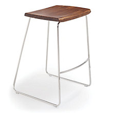 City Lights Solid Bamboo Backless Bar Height Stool, 8806959