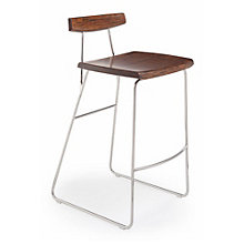 City Lights Solid Bamboo Armless Bar Height Stool, 8806960
