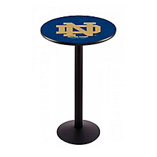 "College Logo Disc Base Table - 36""DIA x 42""H, 8814219"