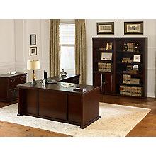 Huntington Club Left L-Desk Hutch and File Set , 8807804