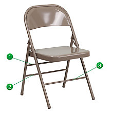Twisted Citron Folding Chair, 8812189