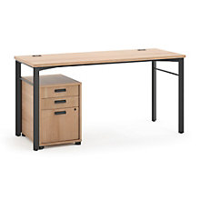 Manage Computer Desk with Pedestal, 8802369