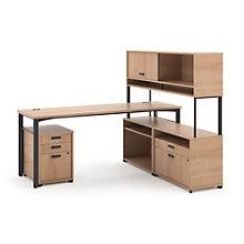 Manage Computer L-Desk and Hutch Set, 8802374