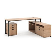 Manage Computer L-Desk and Pedestal Set, 8802375