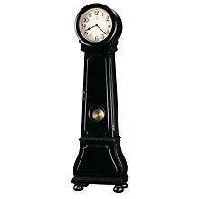 Distressed Black Grandfather Clock, HOM-615-005