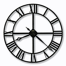 Lacy Wrought Iron Wall Clock, HOM-625-372