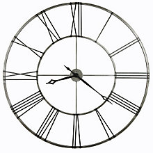 Stockton Wall Clock with Aged Nickel Finish, HOM-625-472