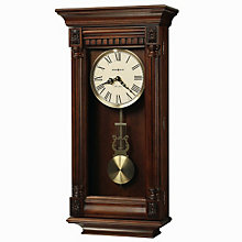 Lewisburg Wall Clock with Tuscany Cherry Finish, HOM-625-474