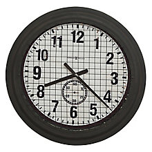 "Grid Iron Wall Clock with Wire Mesh - 25.75""DIA, 8822933"