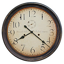 "Squire Oversized Wall Clock - 29""DIA, 8822937"