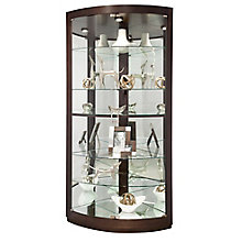 "Gillian Six Shelf Corner Curio - 79.5""H, 8822928"