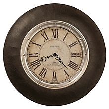 "Oversized Faux Leather 32""Dia Wall Clock, 8801559"