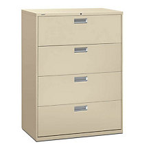 "4 Drawer 42"" Wide Lateral File Cabinet, HON-694L"