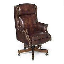 Seven Seas Traditional Executive Chair in Leather, HOO-10863