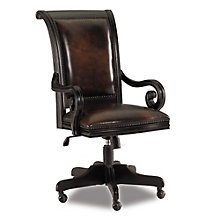 Telluride Traditional Office Chair in Leather, HOO-10877