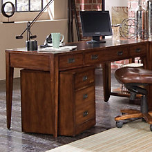"Danforth Writing Desk with Leather Top - 60""W, HOO-11111"