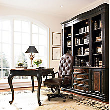 Grandover Traditional Writing Desk and Bookcase Small Office Set, 8814473