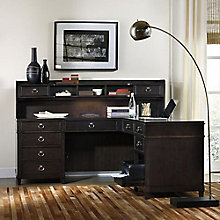 "Kendrick Transitional L-Desk with Hutch - 73""W, 8814342"