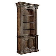 "Rhapsody 90""H Rustic Three Shelf Bookcase with Doored Storage, 8814422"