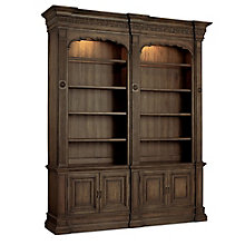 "Rhapsody 104.25""H Rustic Eight Shelf Double Bookcase , 8814486"