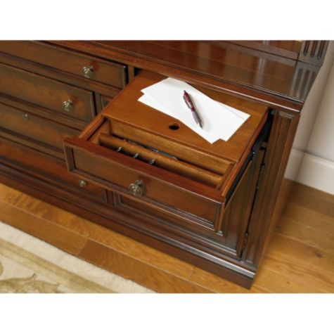 Utility drawer with writing tablet