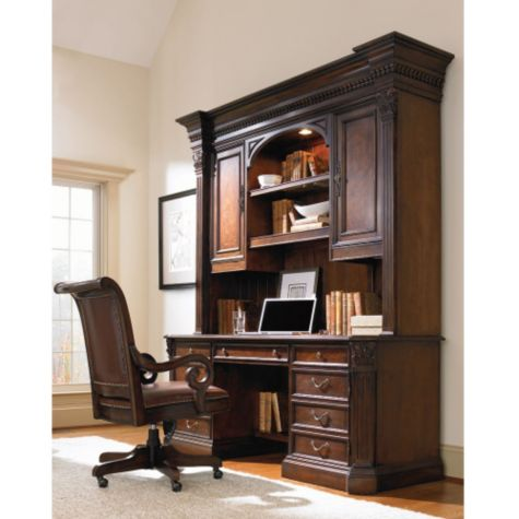 Shown with Optional Hutch in a Home Office
